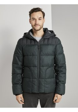 TOM TAILOR - MIT KAPUZE - Winterjacke - black minimal design