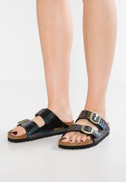 Birkenstock - ARIZONA - Pantolette flach - shiny black/multicolor
