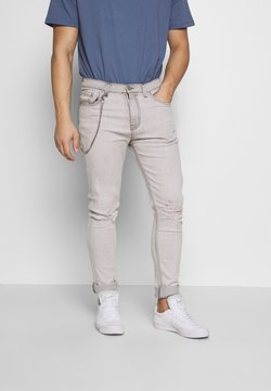 D-STRUCT - AVIGNON - Slim fit jeans - grey marble wash