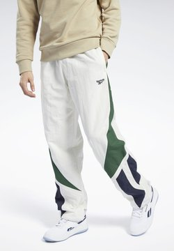 Reebok Classic - CLASSICS TWIN VECTOR TRACKSUIT BOTTOMS - Jogginghose - white