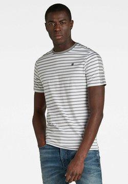 G-Star - KORPAZ STRIPE GR SLIM - T-Shirt print - white/charcoal stripe