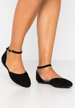 Anna Field Wide Fit - LEATHER ANKLE STRAP BALLET PUMPS - Riemchenballerina - black