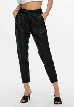 ONLY - Pantalon en cuir - black