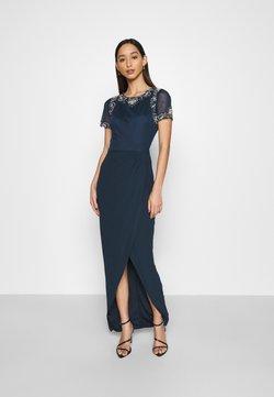 Lace & Beads - FREYA WRAP MAXI - Vestido de fiesta - navy