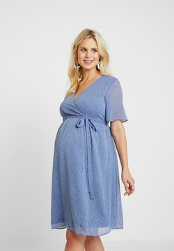 Glamorous Bloom - PIN SPOT WRAP DRESS - Vestido informal - blue