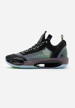 Jordan - AIR XXXII - Basketbalschoenen - black/white/vapor green/bleached coral