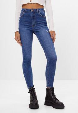 Bershka - MIT SEHR HOHEM BUND  - Jeans Skinny Fit - blue