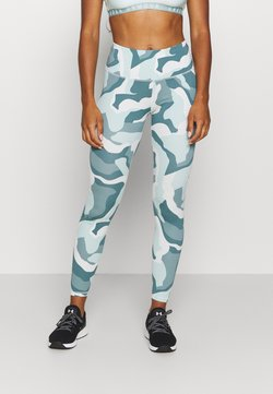 Under Armour - RUSH CAMO LEGGING - Trikoot - seaglass blue