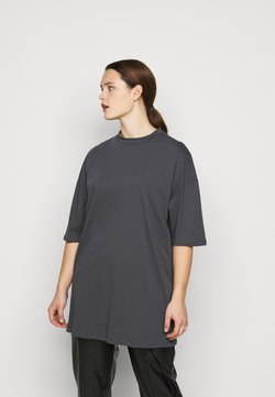 Missguided Plus - OVERSIZED  DRESS - Jerseykleid - charcoal