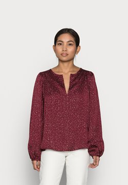 GAP Petite - SPLIT BLOUSON  - Bluse - burgundy