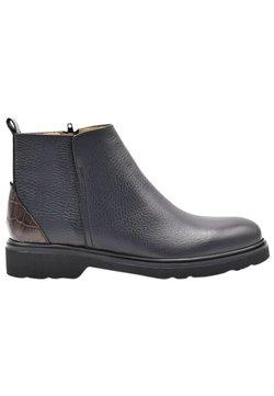 Fertini - Botines bajos - black suede with brown croco detail