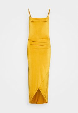 WAL G. - STRAPPY COWELL NECK LONG DRESS - Sukienka koktajlowa - mustard