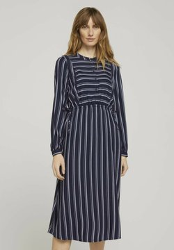 TOM TAILOR - Freizeitkleid - navy twill stripe