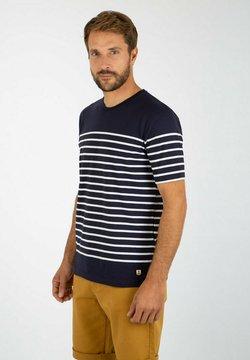 Armor lux - ETEL MARINIÈRE - T-Shirt print - navire/blanc