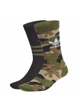 adidas Originals - CAMO CREW SOCKEN, 2 PAAR - Sportsocken - green