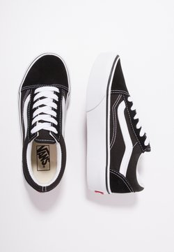 Vans - OLD SKOOL PLATFORM - Sneaker low - black/true white