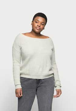Missguided Plus - OPHELITA OFF SHOULDER - Strickpullover - grey