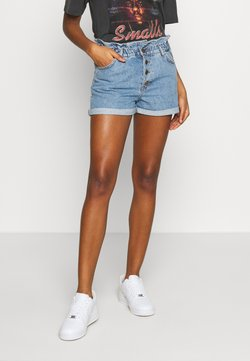 ONLY - ONLCUBA LIFE PAPERBAG - Jeans Shorts - medium blue denim