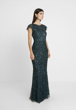 Maya Deluxe - ALL OVER EMBELLISHED DRESS - Ballkleid - emerald
