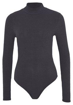 New Look - TURTLE NECK BODY - Langarmshirt - grey