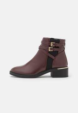 Dorothy Perkins - MINKIE MULTISTRAP CLIP CHELSEA - Ankle Boot - oxblood
