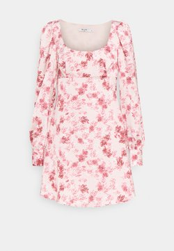 NA-KD - PUFF SLEEVE DRESS - Freizeitkleid - rose