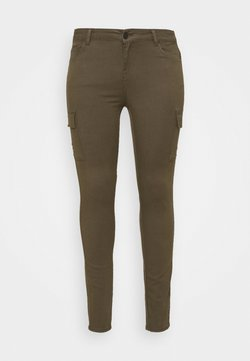 Noisy May Curve - NMLUCY UTILITY PANTS - Cargo trousers - kalamata