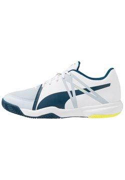 Puma - EXPLODE XT 3 - Zapatillas de balonmano - white/grey dawn/safety yellow/gibraltar sea