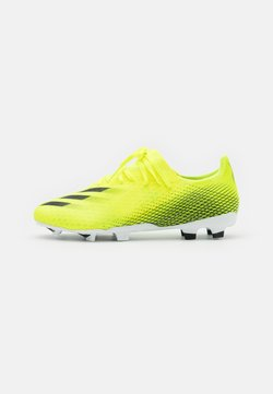 adidas Performance - X GHOSTED.3 FG - Moulded stud football boots - solar yellow/core black/royal blue