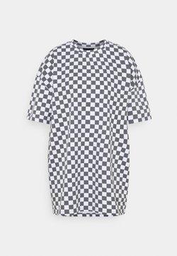 NEW girl ORDER - WHITE CHECKERBOARD TEE - T-Shirt print - black/white