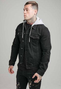 SIKSILK - JACKET WITH DETACHABLE HOOD - Veste en jean - black