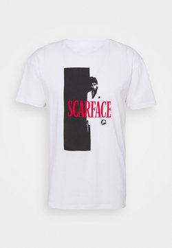 Nominal - SCARFACE COVER TEE - Printtipaita - white