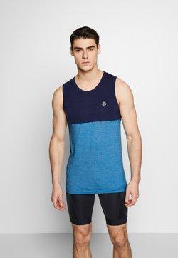 Triple2 - DEEL NUL TANK MEN - Funktionsshirt - mykonos blue