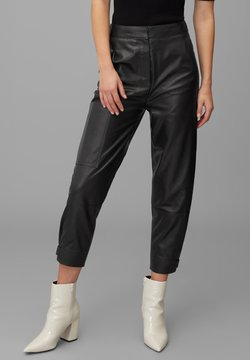 Marc O'Polo PURE - Pantalon en cuir - pure black