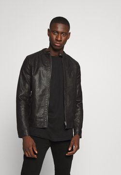 Jack & Jones - JORWARNER JACKET - Imitatieleren jas - black