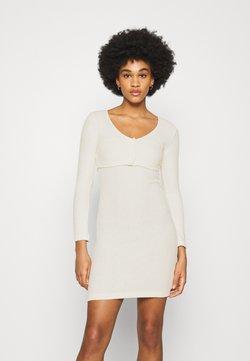 Topshop - CARDIGAN BODYCON DRESS SET - Robe pull - cream