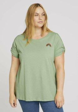 MY TRUE ME TOM TAILOR - T  SHIRT PRINT T-SHIRT MIT BIO  BAUMWOLLE - T-shirt print - light mint green