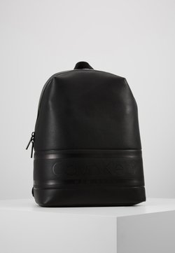 Calvin Klein - LOGO ROUND BACKPACK - Reppu - black