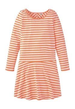 TOM TAILOR - TOM TAILOR KLEIDER & JUMPSUITS GESTREIFTES KLEID - Jerseykleid - orange
