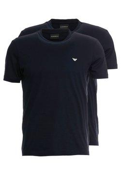 Emporio Armani - 2 PACK - Basic T-shirt - dark blue