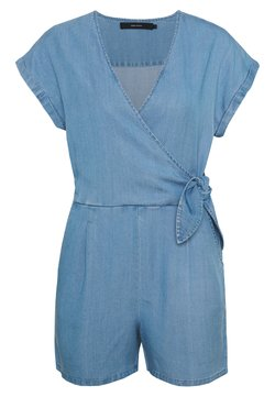 Vero Moda Petite - VMLAURA V-NECK - Combinaison - light blue denim