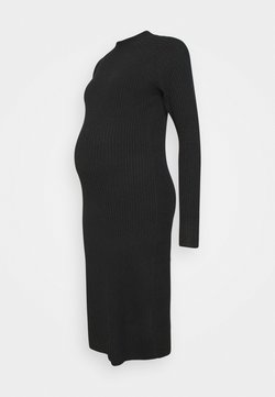 Pieces Maternity - PCMDISA MOCK NECK DRESS - Vestido de punto - black