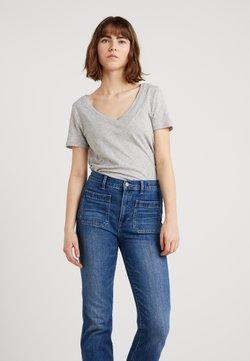 J.CREW - VINTAGE V NECK TEE - T-shirt basique - mottled grey