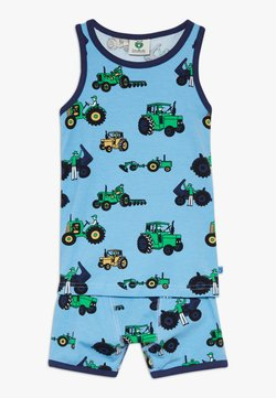 Småfolk - UNDERWEAR BOY OLD TRACTOR SET - Set de sous-vêtements - sky blue