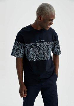 DeFacto - T-shirt imprimé - navy
