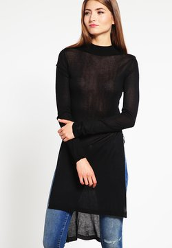 Urban Classics - LADIES FINE KNIT TURTLENECK LONG SHIRT - Strickpullover - black