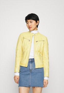 Gipsy - CHARLEE LAORV - Veste en cuir - pastel yellow