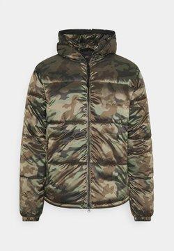 True Religion - HOODED JACKET CAMOUFLAGE - Light jacket - olive