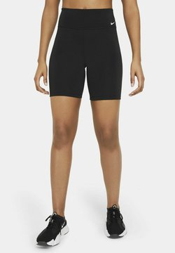 Nike Performance - ONE SHORT - Tights - black/white