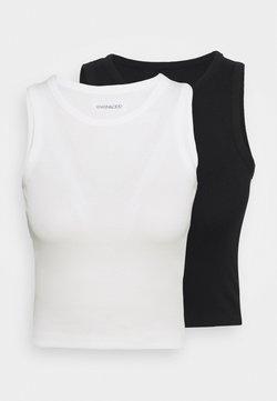 Even&Odd - 2 PACK  - Débardeur - black/white